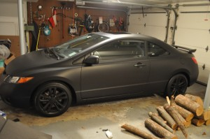 The final product! My matte black civic.