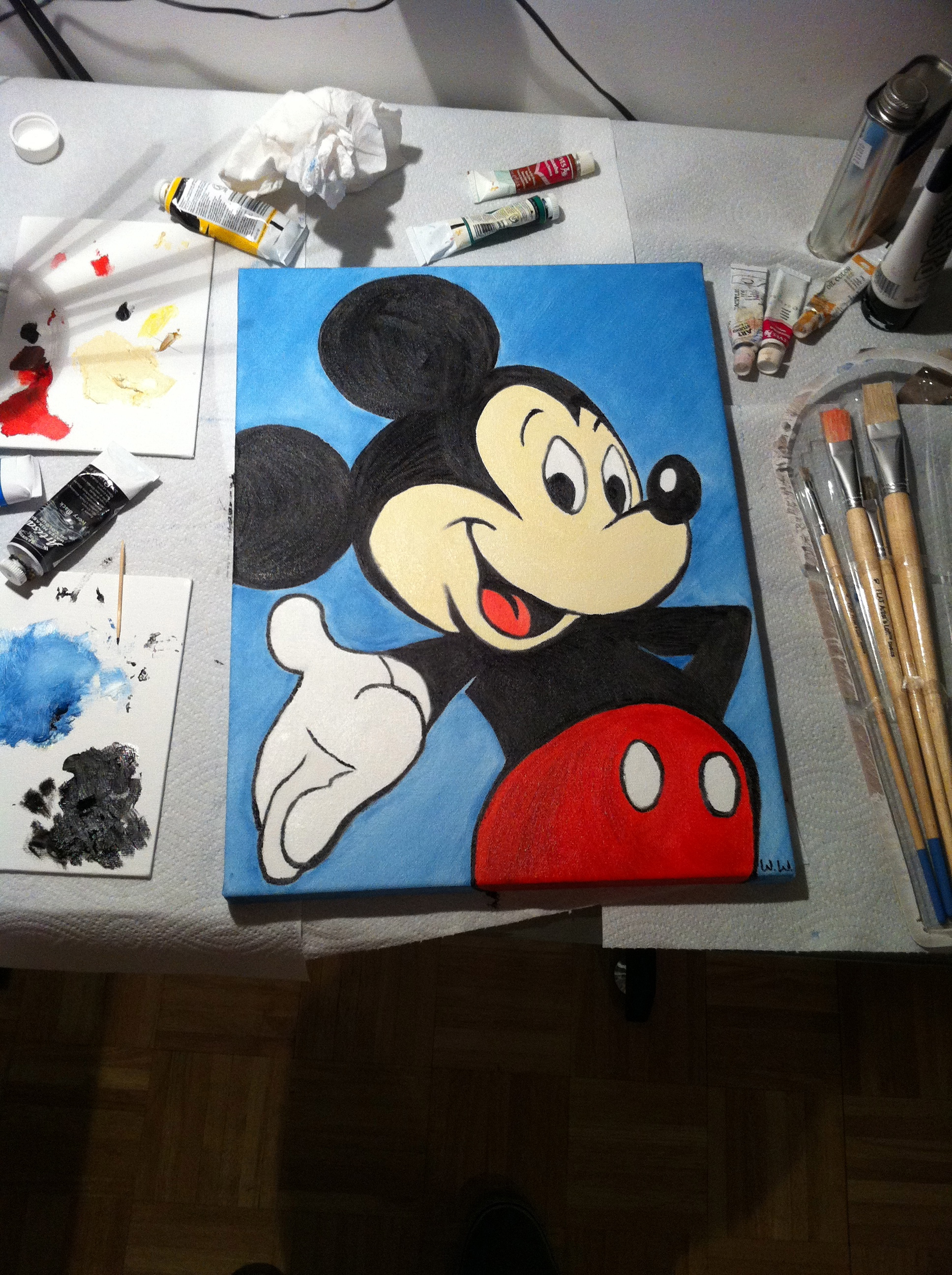Mickey Mouse Painting Will Makes Things